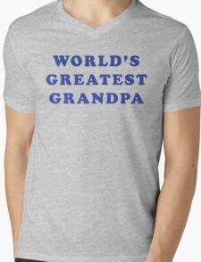 World's Greatest Grandpa Mens V-Neck T-Shirt
