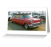 57 Chevy Limo Greeting Card