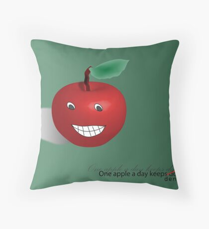 One apple a day Throw Pillow