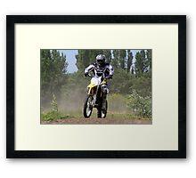 Dirt Rider Framed Print