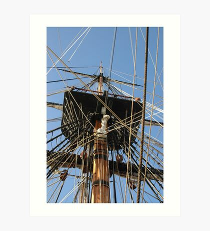 H M Bark Endeavour Art Print