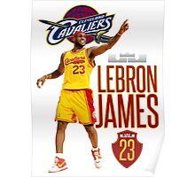 Lebron James - 3 Poster