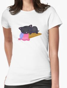 Kawaii Ice Cream Cat Black T-Shirt