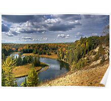 AuSable River in Fall Poster