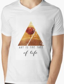 Art is the Tree of Life Quote - Fine Art Photography Quote Mens V-Neck T-Shirt