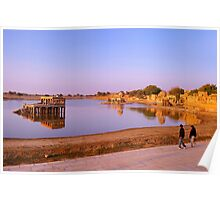 Morning Time at Gadsisar Lake. Poster