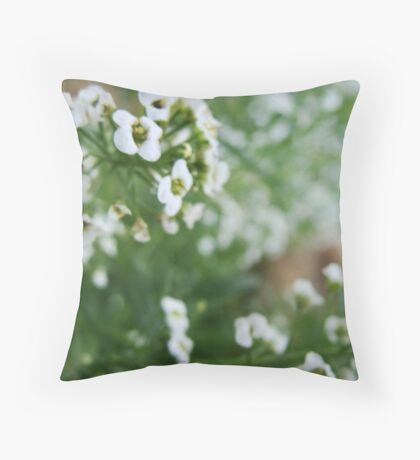 Like little snowdrops, they twirl in the wind Throw Pillow