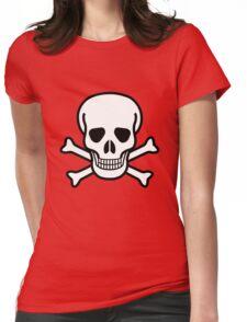 Old Skull Womens Fitted T-Shirt