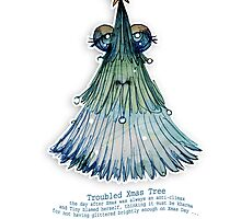 Little Profiles Troubled Xmas Tree by © Karin Taylor
