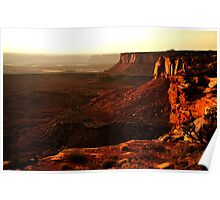 Sunset at Island in the Sky, Canyonlands National Park Poster
