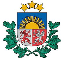 Coat of Arms of Latvia Photographic Print
