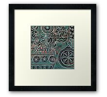 Xmas Baubles 3 -  Gelli Plate Print and Ink  Framed Print
