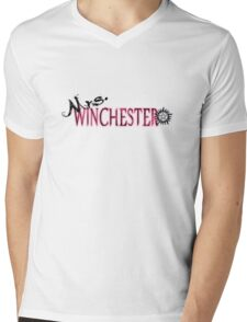 Supernatural Mrs. Winchester Mens V-Neck T-Shirt