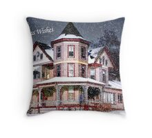 Snow for Christmas Eve Throw Pillow