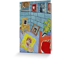 Vincent's Cell at St Remy ( Homage to Vincent ) Greeting Card