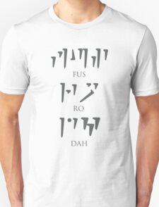 skyrim: unrelenting force (fus ro dah) ver. 1 T-Shirt