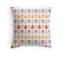 Western Christmas Trees Throw Pillow