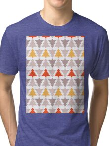 Western Christmas Trees Tri-blend T-Shirt