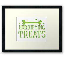 Horrifying TREATS! Framed Print