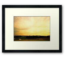 one golden sky Framed Print