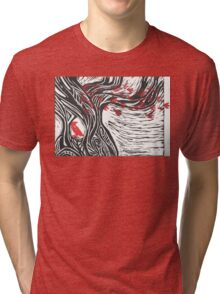 Wisdom of Trees - Red Raven Tri-blend T-Shirt