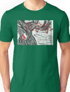 Wisdom of Trees - Red Raven Unisex T-Shirt