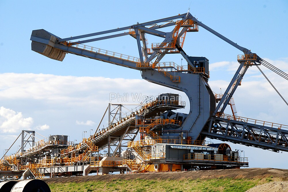 Coal Stacker/Reclaimer - Kooragang Island, Newcastle NSW by Phil Woodman