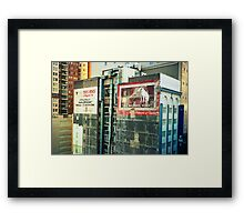 two old signs Framed Print