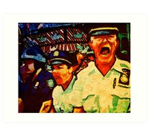 Really Pissed Off Cops Art Print