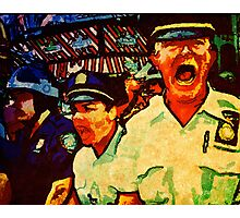 Really Pissed Off Cops Photographic Print