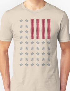 Diamond Stars and Ruby Stripes Flag Unisex T-Shirt