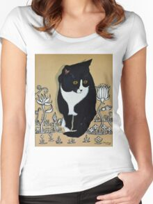 Tuxedo Cat... Women's Fitted Scoop T-Shirt