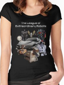 The League of Extraordinary Robots Women's Fitted Scoop T-Shirt