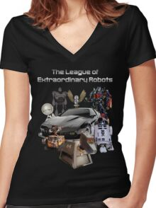 The League of Extraordinary Robots Women's Fitted V-Neck T-Shirt