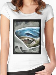 Shark Attack Women's Fitted Scoop T-Shirt