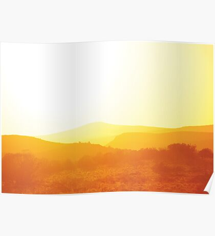 Sunset over Nevada Poster
