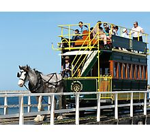 The Horsedrawn Tram @ Victor Harbor Photographic Print