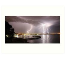 "Geelong Lightning - ""Three Strikes, Your Out"" Art Print"