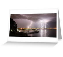 "Geelong Lightning - ""Three Strikes, Your Out"" Greeting Card"
