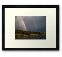 Twin Bows Framed Print