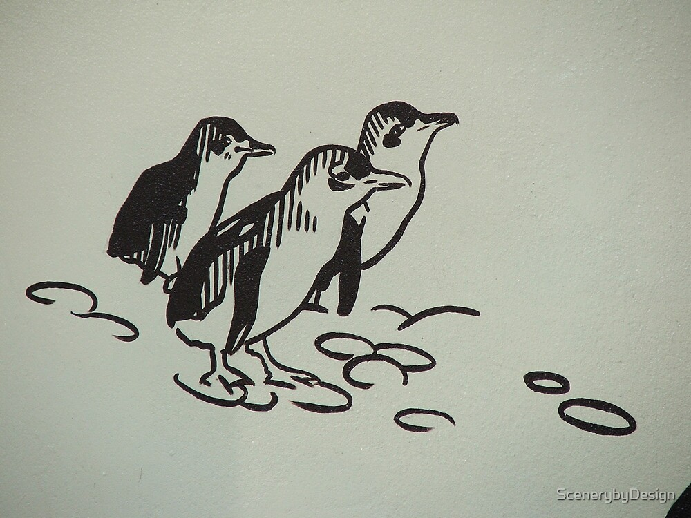 Penguin Mural by ScenerybyDesign