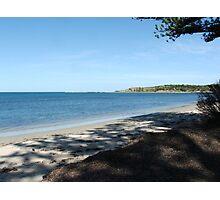 Beach Over Granite Island Photographic Print