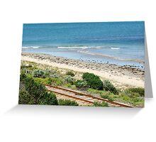 Tracks And Sea Greeting Card
