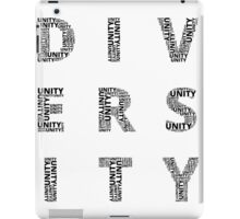 Customisable Unity in Diversity poster iPad Case/Skin