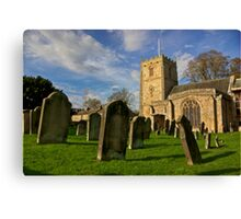 Romaldkirk Church -Co Durham Canvas Print