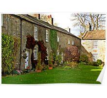 Village Cottages - Romaldkirk Co Durham Poster
