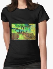 Retro Modern Womens Fitted T-Shirt