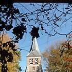 """""""Church framed in Foliage, St. Michael's Island, MD"""" by Lauren Heather Lay"""