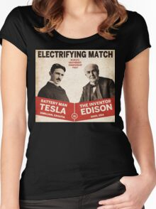 Edison vs Tesla Women's Fitted Scoop T-Shirt