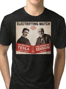 Edison vs Tesla Tri-blend T-Shirt
